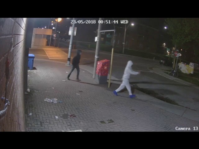 Video shows man unwittingly escape death after gun pointed at his