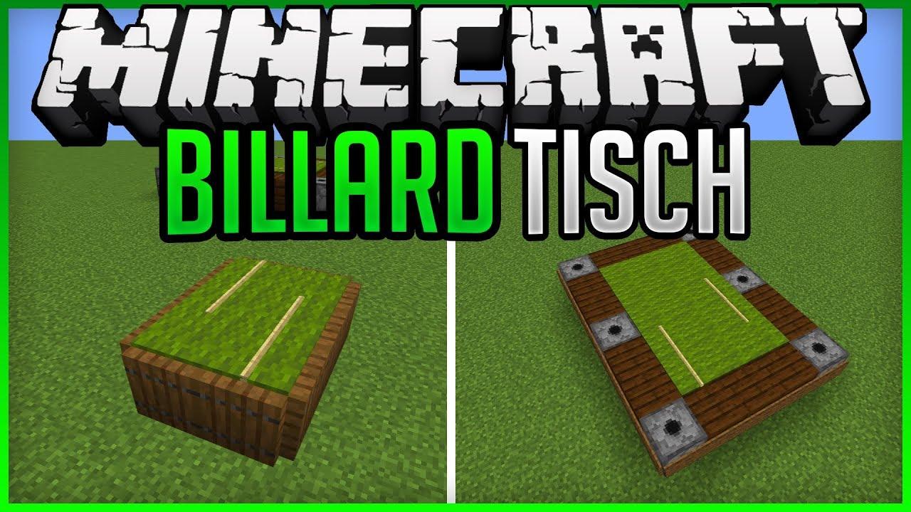 Billiard table Designs + Tutorial Minecraft Map