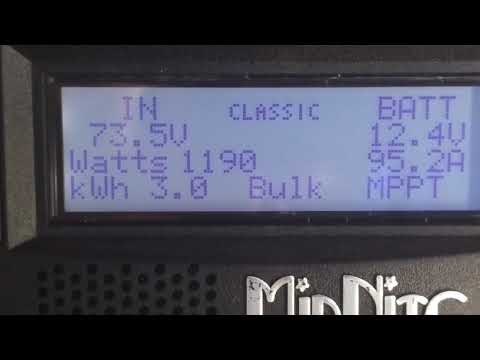 Midnite solar classic voltage problems RV solar