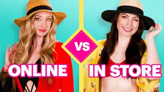 Online Vs. Real-Life Shopping Challenge: Winter Sun Vacation