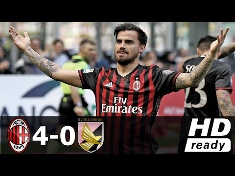 AC Milan vs Palermo 4-0 - All Goals...