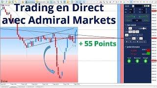 #Dow Jones CFD + 55 points ! Trading en direct avec Admiral Markets le 04 septembre