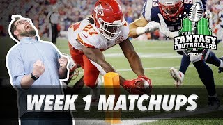 Fantasy football 2017 - week 1 matchups, in-or-out, kareem the dream - ep. #432