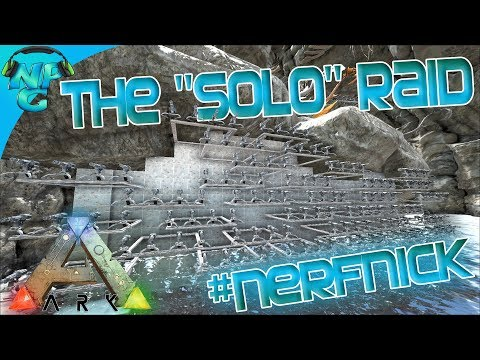 """Ragnarok E33 The """"Solo""""  Raid on the Waterfall Cave Base!  ARK: Survival Evolved PVP"""
