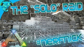 "Ragnarok E33 The ""Solo""  Raid on the Waterfall Cave Base!  ARK: Survival Evolved PVP"