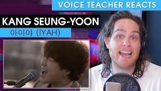 Voice Teacher Reacts to Kang Seung-yoon - 아이야 (IYAH)