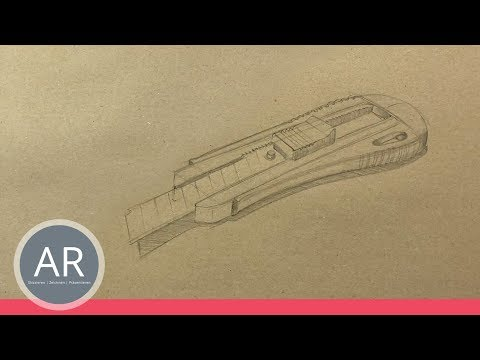 1/2 - Objekte richtig schnell zeichnen. Design-Studien. Mappe für Industrial Design Studium