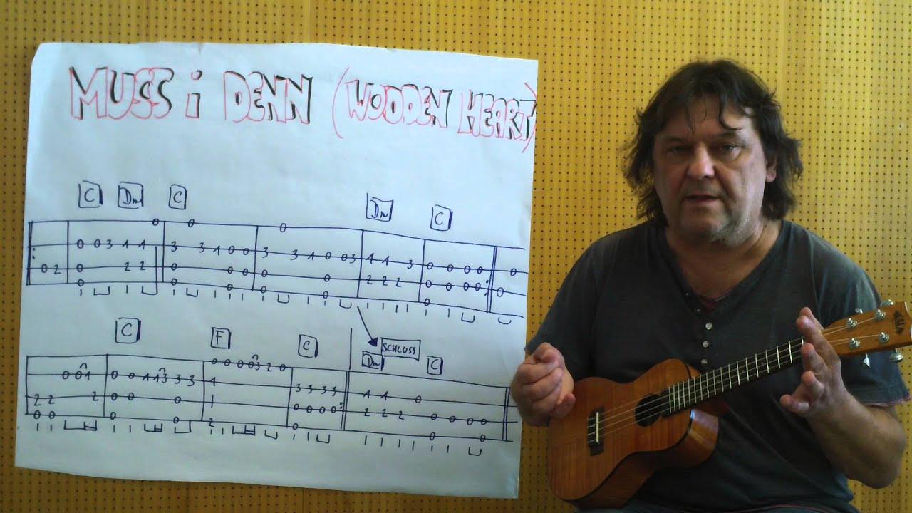 Fingerstyle Ukulele Lesson #14: MUSS I DENN/WOODEN HEART