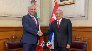 Visita oficial del presidente de Cuba, Miguel Mario Díaz-Canel Bermúdez, desde Palacio Nacional