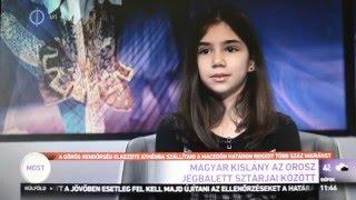 Schermann Regina - a 11 éves magyar lány az orosz jégbalettel táncol