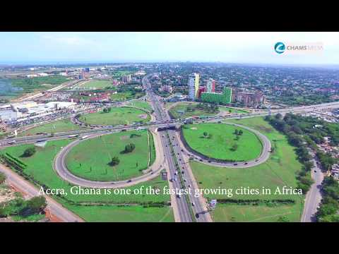 Places: Bird's-Eye view of Accra, Ghana