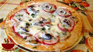 #Пицца на лаваше в микроволновке