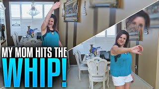 MY MOM CAN HIT THE WHIP!!