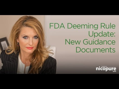 FDA Deeming Rule Update | Nicopure Labs