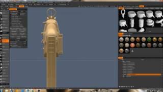3D coat SIG550 assault rifle modeling timelabse