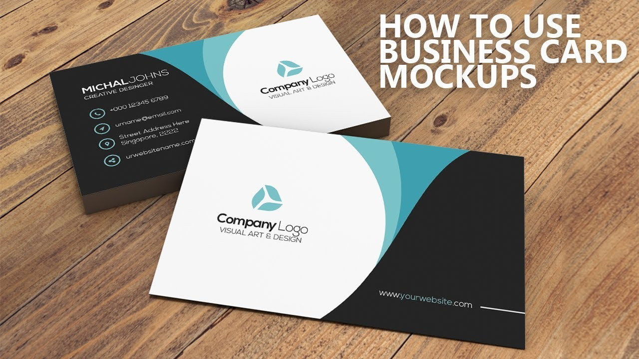 How To Use Business Card Mockup In Photoshop Youtube