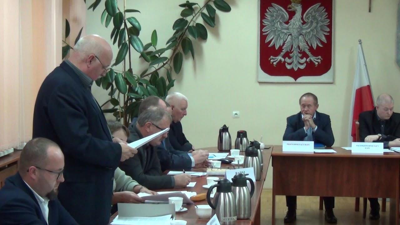 XXXIII sesja Rady Miejskiej w Dzierzgoniu – 24.11.2017 cz  2