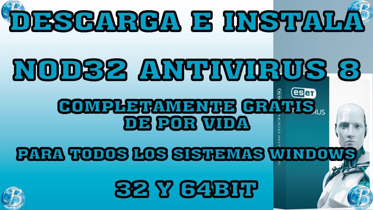 COMO DESCARGAR, INSTALAR Y ACTIVAR NOD32 ANTIVIRUS 8 DE POR VIDA, para  Windows 32-64bit