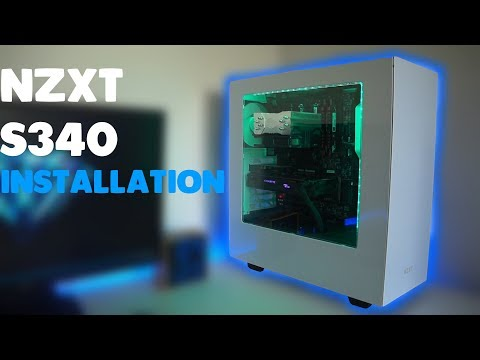 NZXT S340 White installation and review!