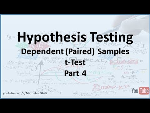 Hypothesis Testing: A Dependent (Paired) Samples tTest - Part 4