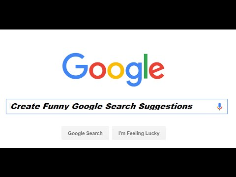 Create Fake and Funny Google Search Suggestions