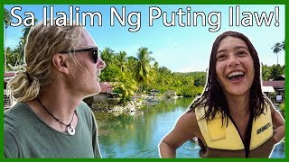 Foreigners try SA ILALIM NG PUTING ILAW CHALLENGE (Buwan) // Surigao Del Sur