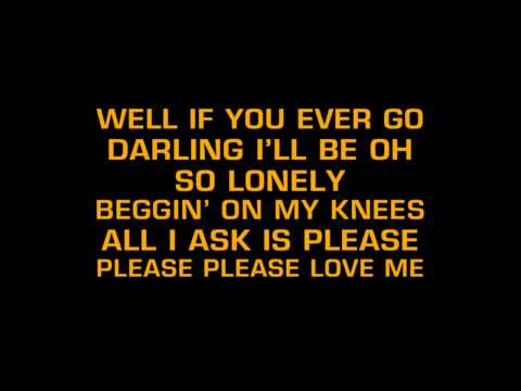 Elvis Presley - Love Me (Karaoke)