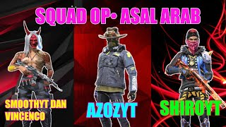 Three of the most respected players on the Arab Free Fire Server
