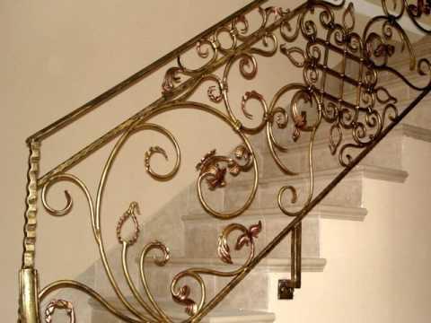 Перила 67  Металлические перила для лестницы в частном доме Днепропетровск в Днепре