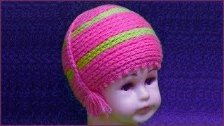 Розовая шапочка. Детская шапочка крючком. Вязание шапочки для девочки. Шапочка крючком. Crochet cap.