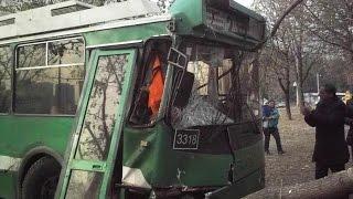 Троллейбус попал в ДТП. 11.10.2016
