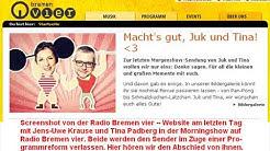 Abschied von JUK und Tina bei Radio Bremen 4 - bremen vier 24. Januar 2020