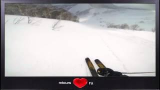 Экстримально опасный спуск на лыжах в Японии! GO PRO.