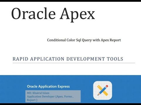 Oracle Apex Conditional Color SQL Query and Report - YouTube