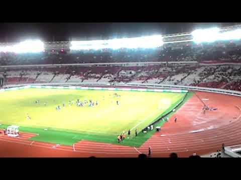 Viking clap timnas Islandia di New Stadium GBK,  Senayan, Jakarta