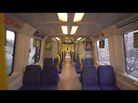 Sweden, Stockholm, subway ride from Farsta to Farsta Strand