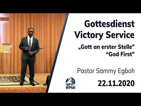 """RPMI-Gottesdienst - 22.11.2020 - Pastor Sammy Egboh """"Gott an erster Stelle"""""""