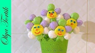 Цветы из БЕЗЕ Меренга простой рецепт /// Olya Tortik Домашний Кондитер