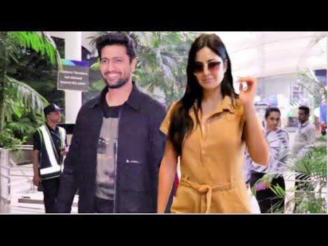 Katrina Kaif With BOYFRIEND Vicky Kaushal At Airport - YouTube