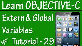 Free Objective C Programming Tutorial for Beginners 29 - Extern Global Variable in Objective C