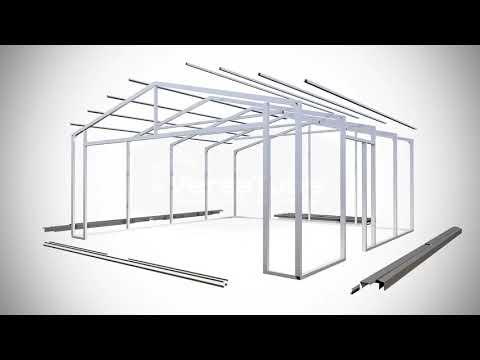 Versatube 20x20x8 Frontier DIY Steel Garage Kit