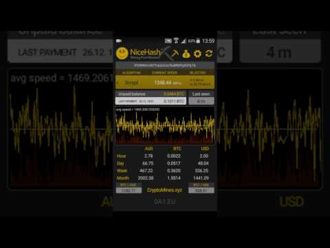 Nicehash Mining Pool Monitor - Android application