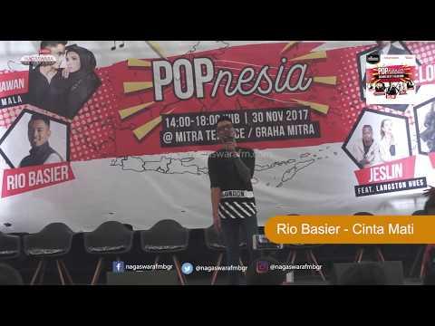 Rio Basier  - Cinta Mati Live @ Launching Album POPnesia 30 November 2017