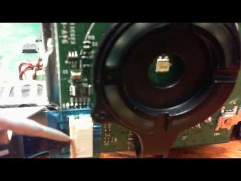Xbox 360 Slim How to remove or install the face plate ribbon touch sensor