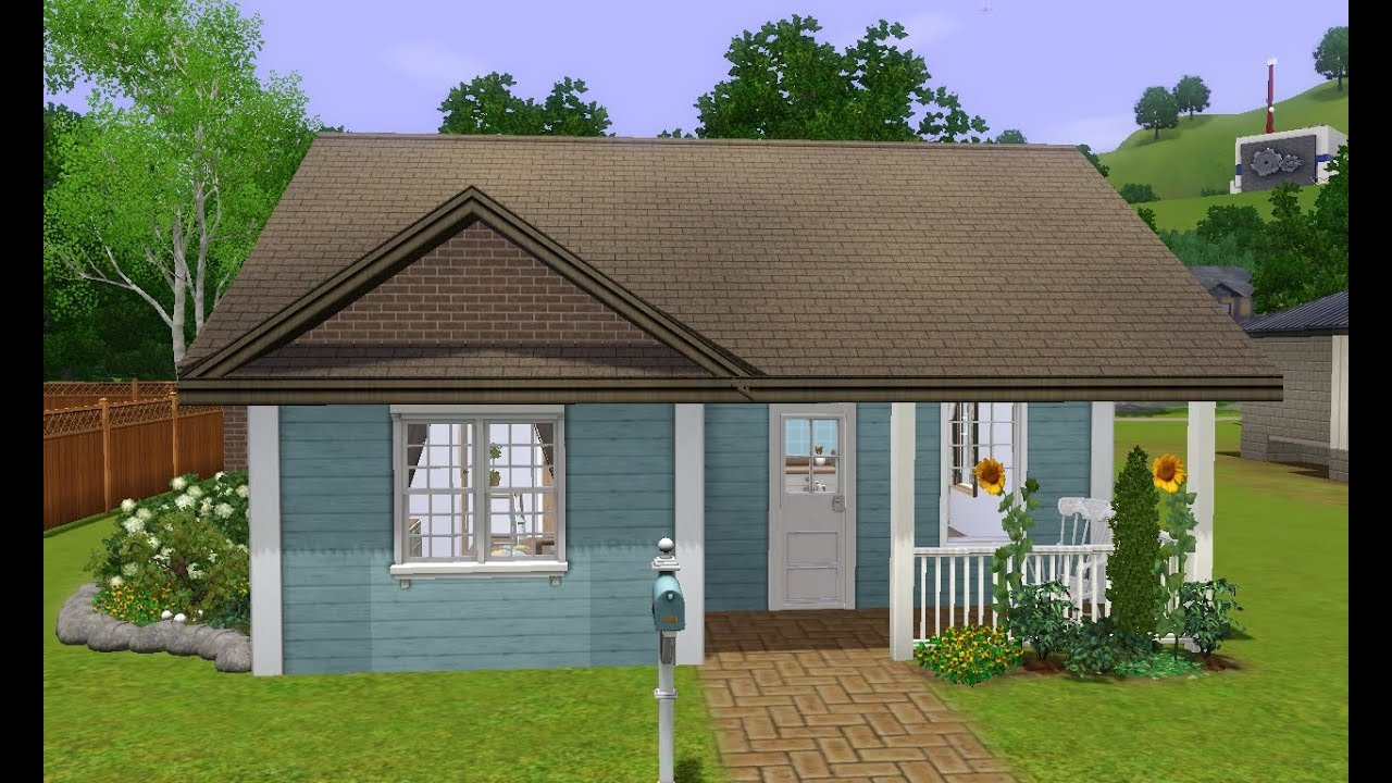 Sims 3 house building starter home lovely begin youtube for Building a house where to start