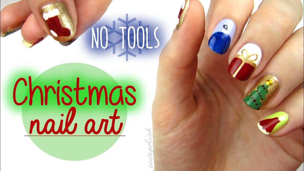 Nail Art for Christmas: The NO TOOL Guide! - YouTube