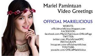 mariel pamintuan greets the marielicious