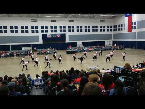 Port Isabel High School Silver Belles Team Novelty at ADTS Competition 2018