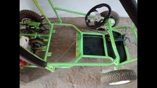 funcionamiento go kart semi arenero y las medidas 2 asientos