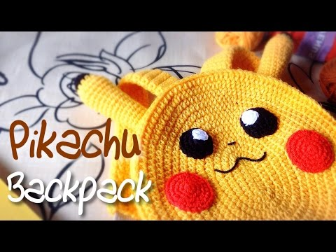(English Sub) ถักโครเชต์ Pikachu Backpack Part 1/2